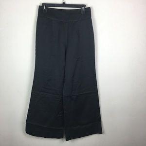 Anthropologie Elevenses black wide leg dress pant